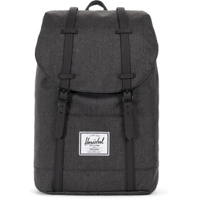 Herschel Retreat Sac à dos 19,5l, black crosshatch/black